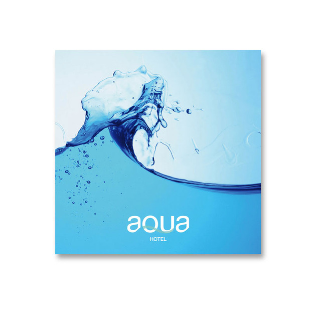 AQUA hotel brochure cover